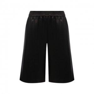 Кожаные шорты DROMe. Цвет: чёрный