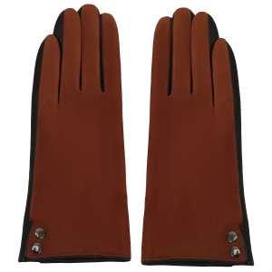 Перчатки Alla Pugachova AP33415-cognac-coffee-21Z. Цвет: коричневый/коричневый