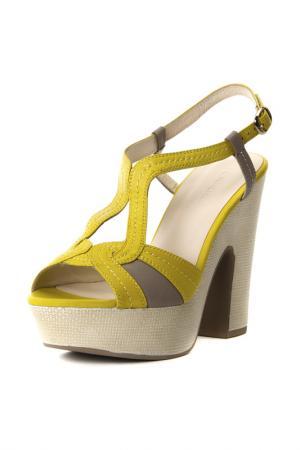 Туфли Calipso. Цвет: желтый, серый