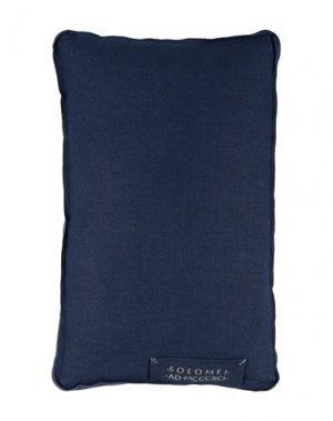 Подушка BRUNELLO CUCINELLI. Цвет: темно-синий