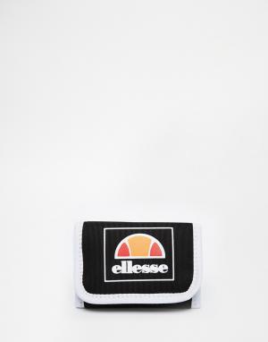 Бумажник с логотипом Ellesse. Цвет: черный