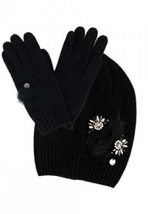 Комплект шапка LIU JO. Цвет: черный
