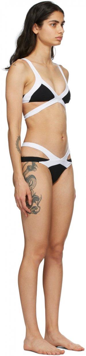 Black & White Mazzy Bikini Agent Provocateur. Цвет: black/ whit