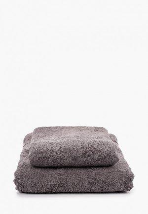 Комплект полотенец Эго 70х135 см, 50х85 см. Цвет: серый