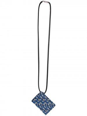 Картхолдер с тисненым логотипом Kenzo. Цвет: синий