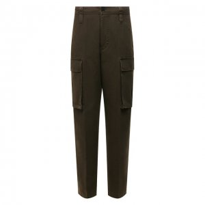 Хлопковые брюки-карго Acne Studios. Цвет: хаки