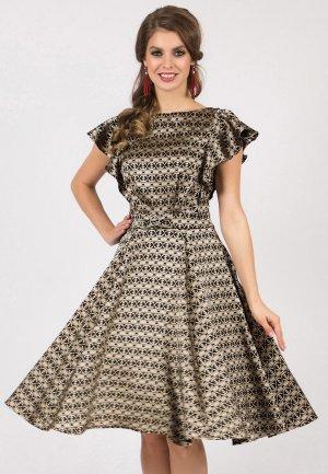 Платье Olivegrey GLOMERY. Цвет: золотой