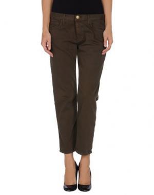 Джинсовые брюки-капри CURRENT/ELLIOTT. Цвет: темно-зеленый