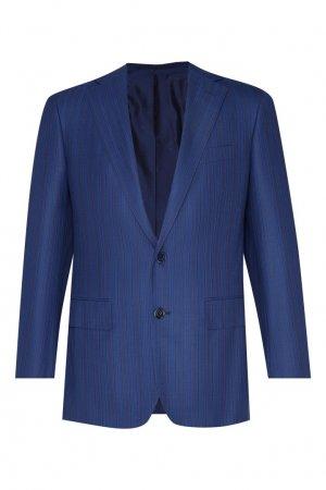 Синий шерстяной костюм Stefano Ricci. Цвет: синий