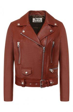 Кожаная куртка Acne Studios. Цвет: бежевый