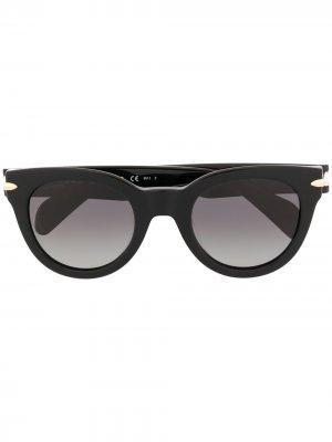 Солнцезащитные очки в круглой оправе RAG & BONE EYEWEAR. Цвет: черный