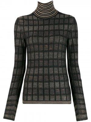 Клетчатый свитер кроя слим Antonio Marras. Цвет: черный