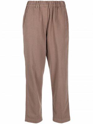 Прямые брюки Alysi. Цвет: коричневый