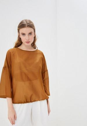 Блуза Vis-a-Vis. Цвет: коричневый