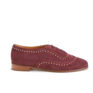 Ботинки-дерби кожаные LA POINTILLEUSE BOBBIES. Цвет: бордовый