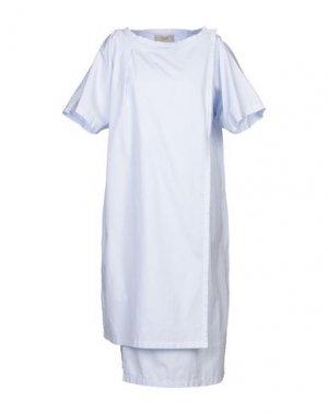 Платье до колена MAISON FLÂNEUR. Цвет: лазурный