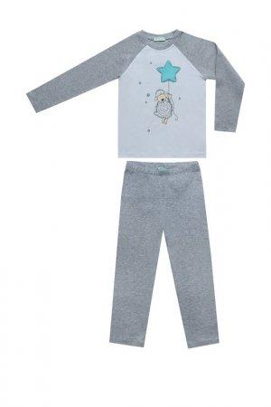 Пижама Diva Kids. Цвет: серый меланж, белый
