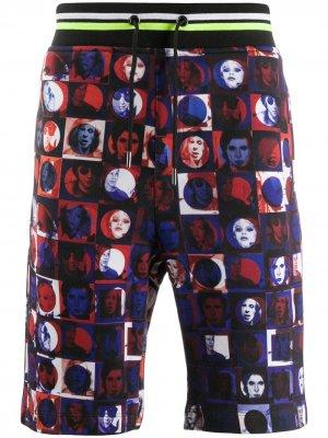 Спортивные шорты с фотопринтом Frankie Morello. Цвет: синий