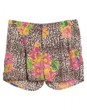 Повседневные шорты FRACOMINA. Цвет: бежевый