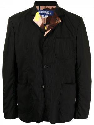 Пиджак с графичным принтом Junya Watanabe MAN. Цвет: черный