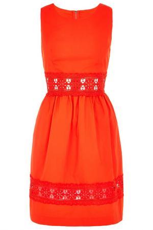 Платье Louche. Цвет: оранжевый