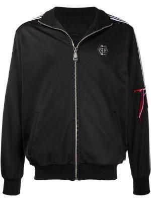 Спортивная куртка Rock PP Philipp Plein. Цвет: черный
