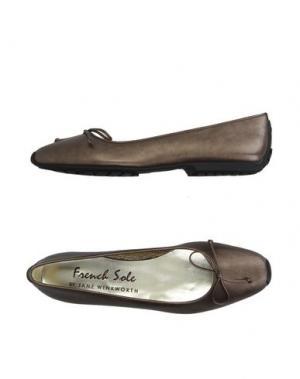 Балетки FRENCH SOLE. Цвет: бронзовый