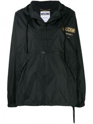 Анорак с логотипом Moschino. Цвет: черный