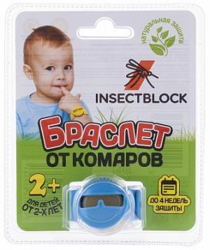 Браслет от комаров детский Insectblock. Цвет: голубой
