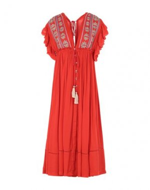 Платье длиной 3/4 FREE PEOPLE. Цвет: красный