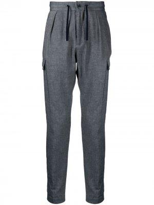 Спортивные брюки с карманами Incotex. Цвет: синий