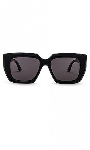 Солнцезащитные очки geometric square Bottega Veneta. Цвет: черный