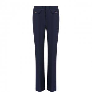 Однотонные расклешенные брюки со стрелками Chloé. Цвет: синий