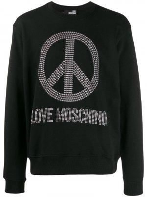 Толстовка с декорированным логотипом Love Moschino