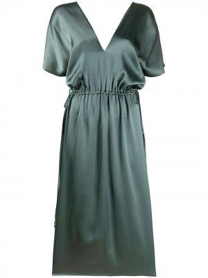 Платье длины миди Alysi. Цвет: зеленый