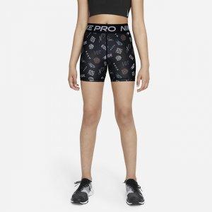 Короткие шорты для девочек школьного возраста Pro Dri-FIT - Черный Nike
