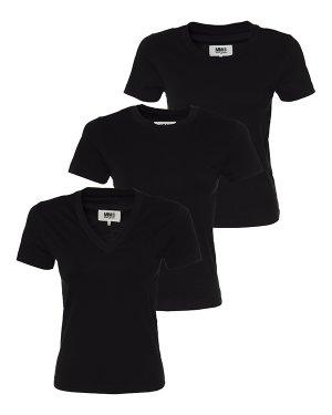 Комплект футболок  S52GC0189 s черный MM6 Maison Margiela. Цвет: черный