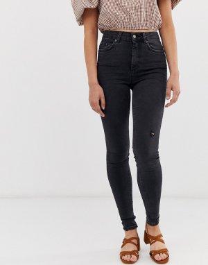 Зауженные джинсы -Черный Pieces