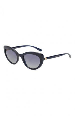 Солнцезащитные очки Dolce & Gabbana. Цвет: синий