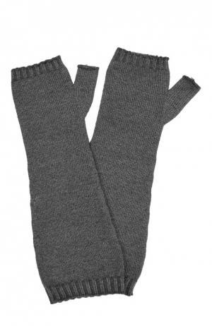 Перчатки вязаные Dirk Bikkembergs. Цвет: темно-серый