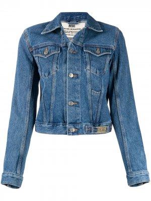 Укороченная джинсовая куртка Diesel. Цвет: синий
