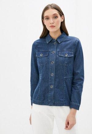 Куртка джинсовая Gerry Weber. Цвет: синий