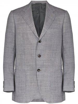 Пиджак на пуговицах Kiton. Цвет: серый