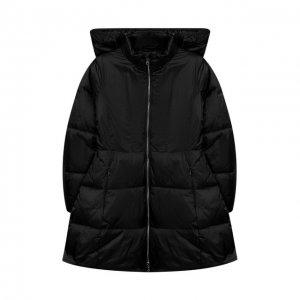 Пальто с капюшоном Emporio Armani. Цвет: чёрный