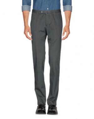 Повседневные брюки DAKS LONDON. Цвет: свинцово-серый