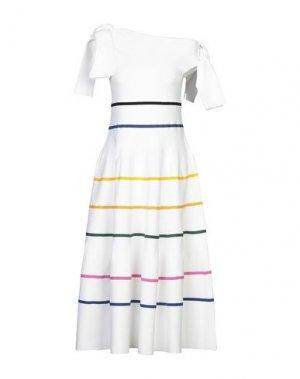 Платье до колена CAROLINA HERRERA. Цвет: белый