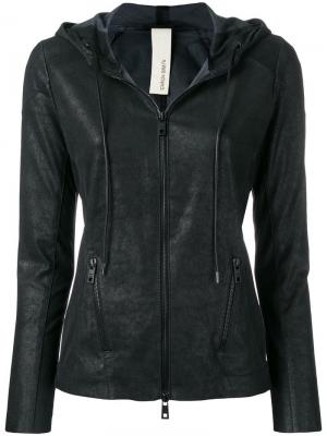 Обтягивающая кожаная куртка Giorgio Brato. Цвет: черный