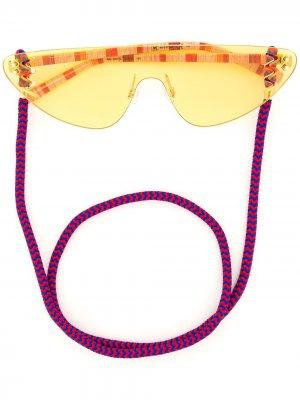 Солнцезащитные очки без оправы MISSONI EYEWEAR. Цвет: желтый