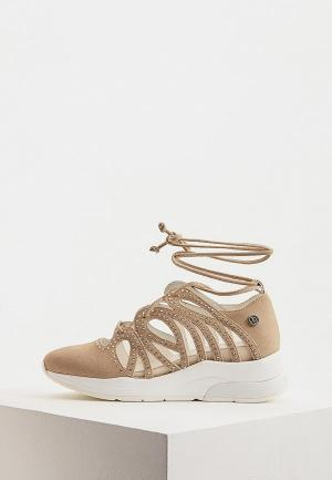 Кроссовки Liu Jo. Цвет: бежевый