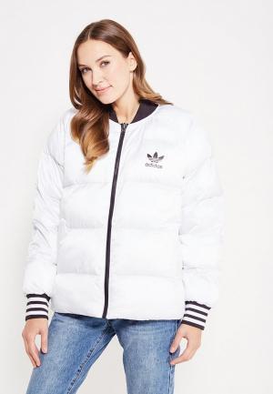 Куртка утепленная adidas Originals SST REV JACKET. Цвет: разноцветный